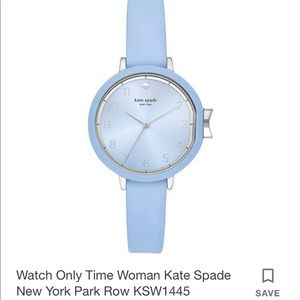 New Kate Spade blue stainless watch